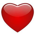 Hechizos de amor con un corazón rojo